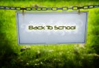 A sign hung on a chain that says Back To School.