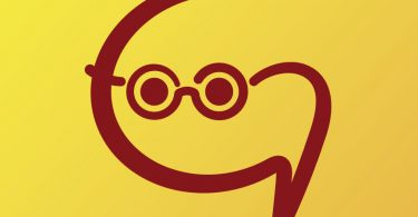 GoGlobalBeHappy logo modified as pictogram that shows a student with glasses