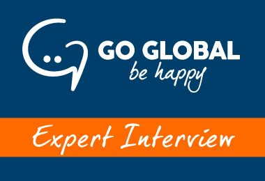 Logo Go Global Be Happy with Expert Interview banner