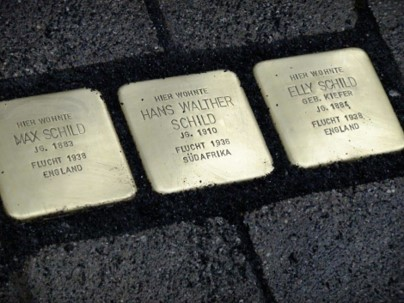 Commemorative plates for Jews in Nazi Germany
